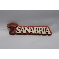 Imán letras Sanabria y seta