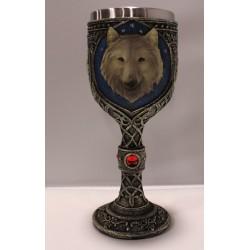 Copa de lobo marrón pequeña