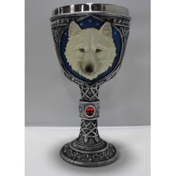 Copa de lobo blanco grande