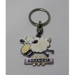 Llavero metálico con oveja